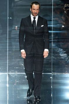 Tom Ford himself at the Tom Ford Spring 14 finale