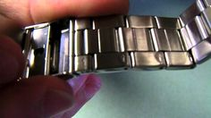 How to remove links from a watch on your own! Very good for my baby wrists.