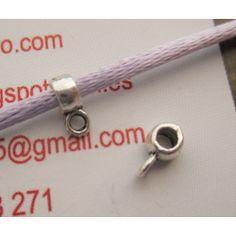 Enganche para colgante en metal 4x2 mm. Interior de 2 mm.