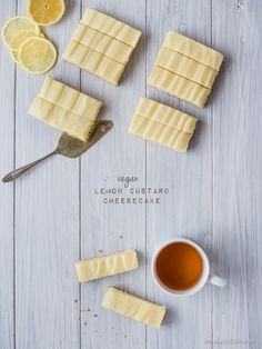 Vegan Lemon Custard Cheesecake Bars