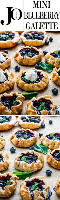 These Mini Blueberry Galettes are perfect for a quick dessert. They're perfectly crisp, flaky, delicious and so impressive. The ultimate summer dessert! Perfect with cassava flour.and huckleberries! Blueberry Recipes, Fruit Recipes, Sweet Recipes, Dessert Recipes, Cooking Recipes, Weight Watcher Desserts, Köstliche Desserts, Delicious Desserts, Yummy Food