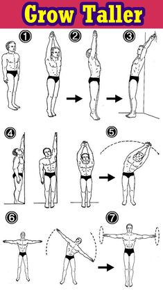 When you are tall you may get less parody. OK, let's find out how to increase height naturally with some basic yoga poses. Increase Height Exercise, Tips To Increase Height, Gym Workout Tips, Workout Videos, At Home Workouts, Teen Workout, Workout Fitness, How To Get Tall, How To Grow Taller