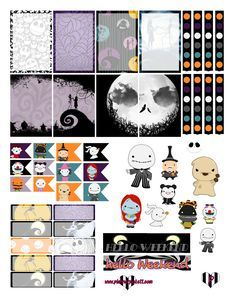 @planner.PICKETT: Nightmare Before Christmas FREE halloween Planner Sticker Printable