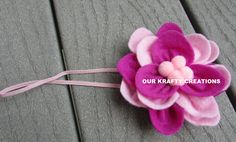 Infant Headband, Baby Headband, Flower Headband, Lotus Flower, Newborn Headband, Baby Shower Gift by OurKraftyCreations on Etsy