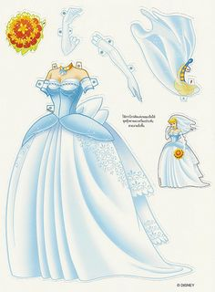 Miss Missy Paper Dolls: Foreign Disney Princess Paper dolls Cinderella Pose 2