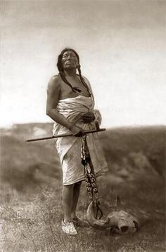 Souix medicine chief. He looks so proud and majestic. Wonderful photo.