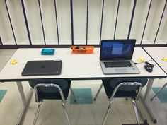 Chromebook station. Index card holders for log in info, pencil storage bins for mouse.