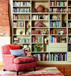 Home Library Design, Design Desk, House Design, Book Storage, Storage Area, Bookcase Storage, Diy Home, Home Decor, Interior Design Tips