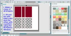 How to Overlay Patterns in Silhouette Studio to Create Custom Backgrounds - Halloween Book Treat Boxes by Annie Williams  #silhouettedesignteam