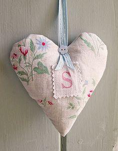 Decorative Country Living vintage heart sachet