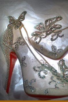 Louboutin Cindrella shoes - new version - ELLE ONLINE