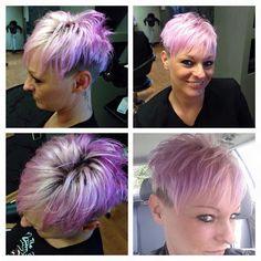 #Krass#und#am#besten# kunterbunt#Mut#zur#farbe#directions#lavender#vorher#blond
