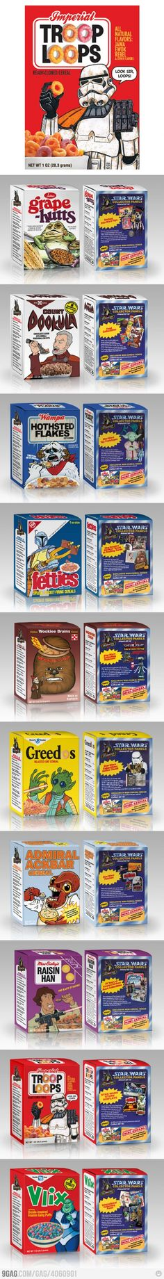 The Entire Collection of Star Wars Cereals