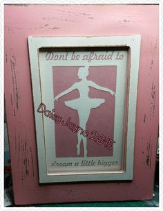 Dream a little bigger Ballerina by DaisyJayneHandmade on Etsy