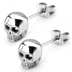 Check out this awesome unique style earring. This Women's Stainless Steel Polish Finish Skull Stud Earrings is very stylish. Made from a high quality stainless steel. 100% hypoallergenic that prevents skin from being allergy. Finished with skull design.
