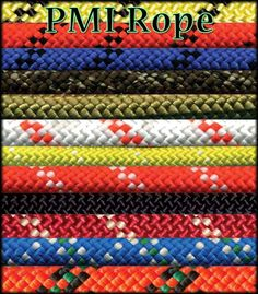 PMI Rope: If you need a rope that has a good strength to weight ratio, PMI® will hold up to the test. Makes the perfect Personal Escape line.