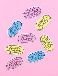Printable Gem Valentine's Day Sticker