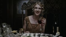 Lily Rabe plays a goody-two-shoes nun who soon becomes the vessel for the devil to reside in. Description from bustle.com. I searched for this on bing.com/images