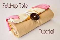 Fold-up tote tutorial - Very handy for shopping trips!