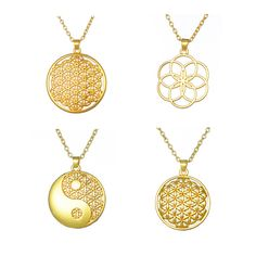 Find More Pendant Necklaces Information about Dropshipping 18k Gold Plated Round Shape Flower of Life Pendant Religious Yin Yang Necklace Women Jewelry Christmas Gifts,High Quality gifts tv,China gift shop chip chip Suppliers, Cheap gift jewelry box from Silver Jewelry Charm Factory on Aliexpress.com