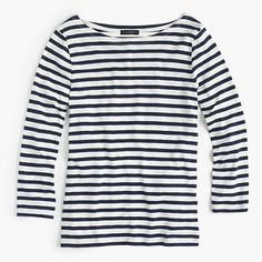 ***I ordered this as a cool staple and found a perfect slouchy fit. Pre-order Striped boatneck T-shirt