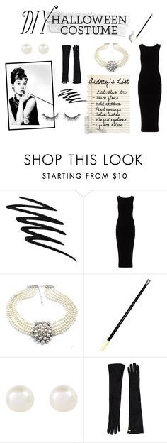 """""""DIY Halloween costume - Audrey Hepburn"""" by juliettebouffard ❤ liked on Polyvore featuring moda, Prescriptives, Luxo, James Perse, Accessorize, Dsquared2 e Sephora Collection"""