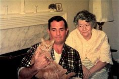 Kerouac Cat & his Mother November 1967 ~~~ cat company is the best company~~