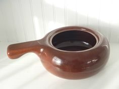 Russel Wright Handled Casserole Bean Brown by MaryWaldsPlace