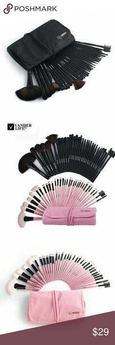 32Pcs Makeup Brush Sets Professional Tools 32Pcs Makeup Brush Sets Professional Cosmetics Brushes Set Kit + Pouch Bag Case Woman Make Up Tools Pincel Maquiagem Makeup Brushes & Tools