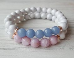 Gemstone Bracelets, Handmade Bracelets, Jewelry Bracelets, Handmade Jewelry, Bracelet Crafts, Jewelry Crafts, Stone Jewelry, Beaded Jewelry, Bracelet Making