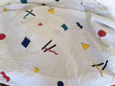 Vintage Twin Fitted  Bed Sheet 80's Design by SmallPotatoVintage on Etsy https://www.etsy.com/listing/472159617/vintage-twin-fitted-bed-sheet-80s-design