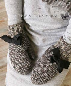 【楽天市場】【再入荷♪9月7日12時&22時より】(グレーミックス)「mori」上品なリボンの手袋 :cawaii