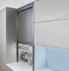 German Tambour Door Kit Stainless Effect 1400mm High 18mm Kitchen Units 500-1000 £419