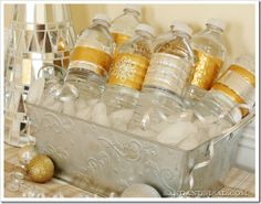 #DIY Duck Tape Crafts. Water Bottle Spruce Up. Casual #Wedding/Party Idea