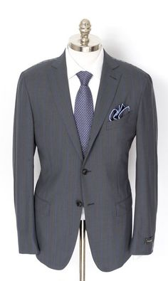 Ermenegildo Zegna plays it smooth & stylish, in this wool slim fit rolling suit!  |  Find yours! http://www.frieschskys.com/suits  |  #frieschskys #mensfashion #fashion #mensstyle #style #moda #menswear #dapper #stylish #MadeInItaly #Italy #couture #highfashion #designer #shopping