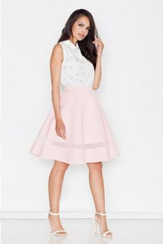 Beautiful Globed midi skirt in shades of pink