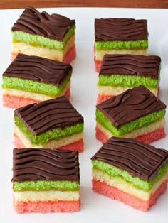 Italian chef Lidia Bastianich shows Food Network Magazine step-by-step how to make rainbow cookies.