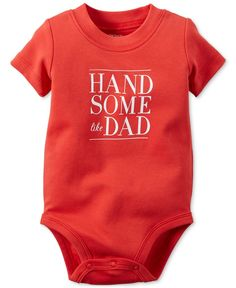 Carter's Baby Boys' Short-Sleeve Handsome Like Dad Bodysuit