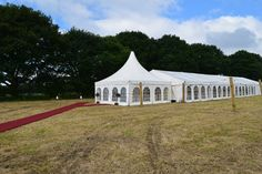 Marquee with pagoda entrance all ready for the big day