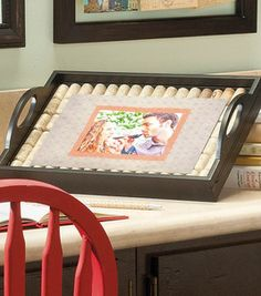 Wine Cork Frame Tray : home decor :  Shop | Joann.com