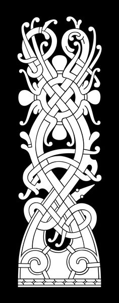 Ringerike tyle. Vegetal Cross – A type of motif seen on scandinavian rune-stones.