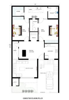 house plans for your dream house - House plans Town House Floor Plan, House Plans Mansion, Model House Plan, Dream House Plans, Duplex House Plans, House Layout Plans, Apartment Floor Plans, 30x50 House Plans, Affordable House Plans