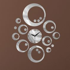 2013 new decorative mirror wall clock contemporary style for home design $18.90