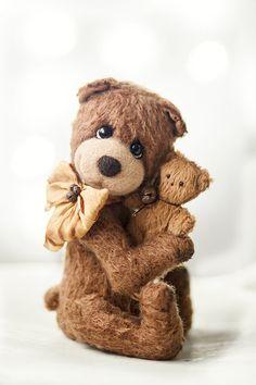 OOAK Artist Teddy Bear Oddy Collectible by SoftlyBearPaw on Etsy,