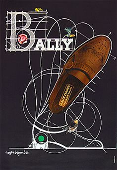 Original Vintage Poster Bally Brogue, 1980