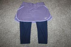 Nike Performance Golf Dri Fit Purple Leggings Skirt Skort Womens Running X Small #Nike #SkirtsSkortsDresses