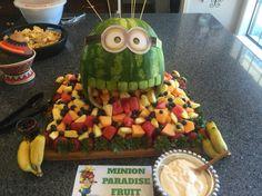 Minion fruit display birthday party                                                                                                                                                     More