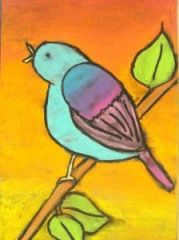 Chalk pastel birds (upper elementary)