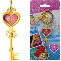Disney Princess Key Colored Pewter Keychain