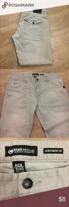 Ecko Unltd slim straight size W40 Overall good condition has 2 small spots can be washed off on left leg right below the knee Ecko Unlimited Pants